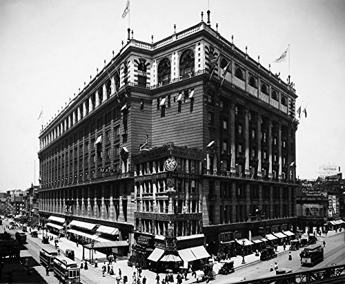 New York: Macy'S, 1908. /Nmacy'S Department Store, Herald Square, New York City. Photographed In 1908. Poster Print by (18 x - Square Stores Herald In