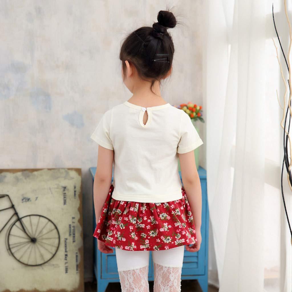 Pantalones Cortos Conjunto de Pantalones JUTOO 2019 Ropa de ni/ños Toddler Kids Baby Girls Outfits Ropa Ruffles Camiseta de Manga