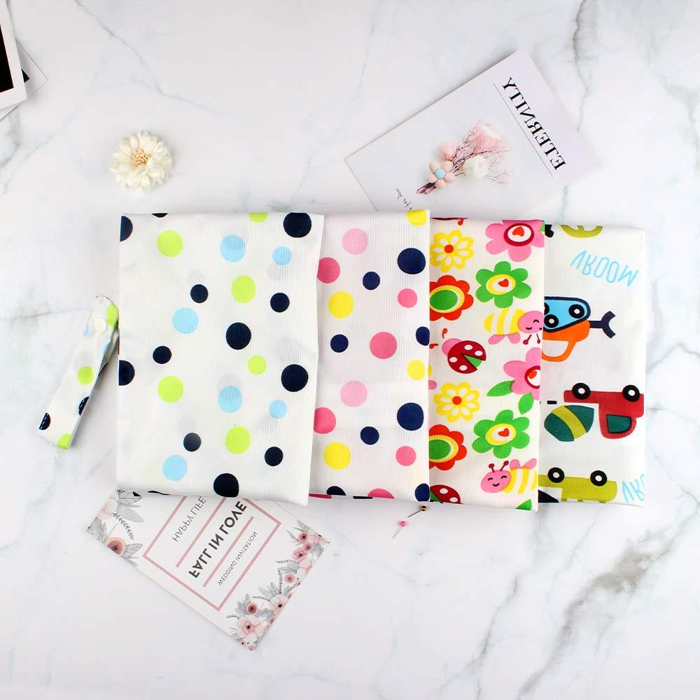 Bolsa de pa/ñales 4 piezas bolsa de pa/ñales toallitas impermeables bolsa de organizador bolsa h/úmeda reutilizable con cremallera para beb/és y ni/ños peque/ños en movimiento