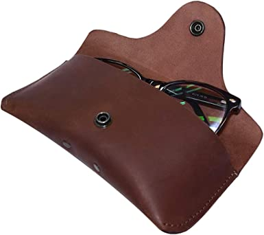 Bourbon Brown Rustic Leather Sunglasses Case /& Wallet Handmade by Hide /& Drink
