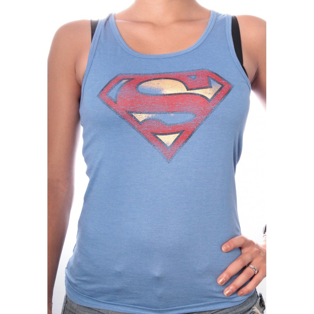 FDS Debardeur Superman DC Comics - Logo Grunge