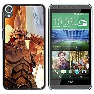 EJOY---Cubierta de la caja de protección la piel dura para el / HTC Desire 820 / --Guerra héroe de edad
