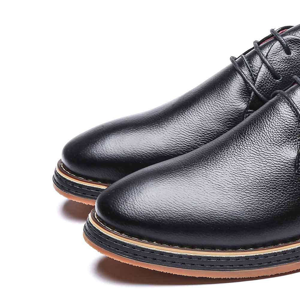 LXLA- Männer Casual Lace up Dress  Lederschuhe Für Männer,   Dress Herren Business Formale Bequeme Loafers (Farbe : Blau, größe : 9.5 US/8.5 UK) Schwarz 6faf35