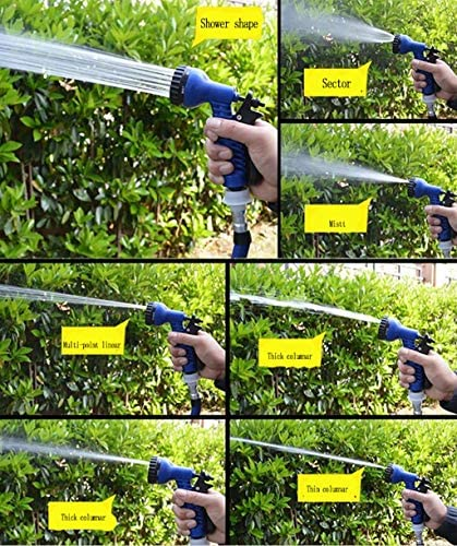 25FT Garden hose Hot Expandable Magic Flexible Garden Water Hose For Car Hose Pipe Plastic Hoses garden set to Watering with Spray Gun