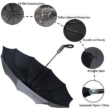 Amazon.com: YANGKEE Paraguas – 10 varillas paraguas ...