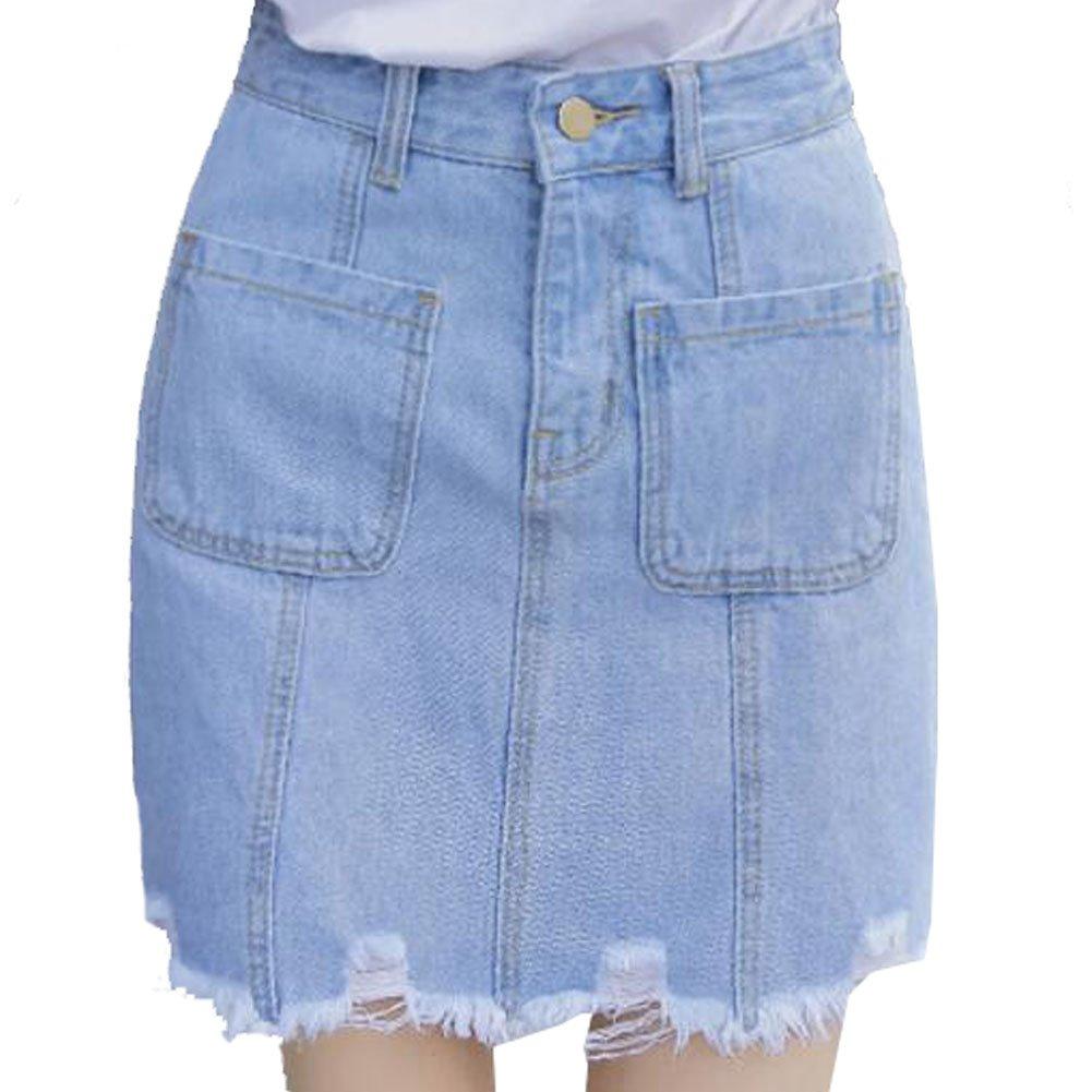 George Jimmy Slim Skirts Jeans Skirt High Waist Skirt A Line Skirt GJ-CLO9056935011-ANNE00210
