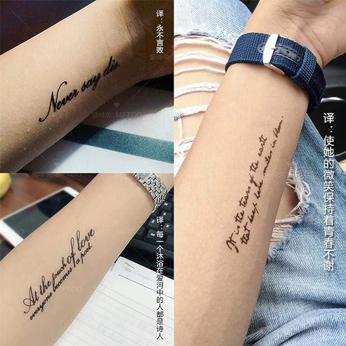 Personalidad original inglés alfabeto brazo tatuaje pegatinas ...