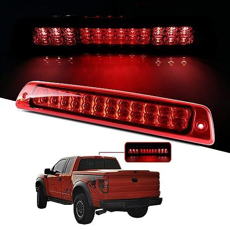 cciyu Replacement fit for 1994-2001 Dodge Ram 1500 2500 3500 Pickup LED 3rd Brake Light Cargo Lamp High Mount Stop Lights Black