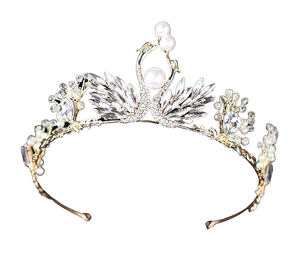 Femme Couronne de Princesse en Strass cristal Diadè me Nuptiale Reine Tiara