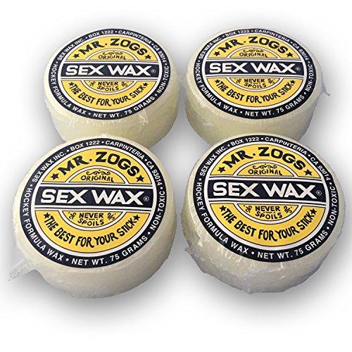 - Mr. Zog's Sex Wax Hockey Stick Wax (Coconut, 4-Pack)