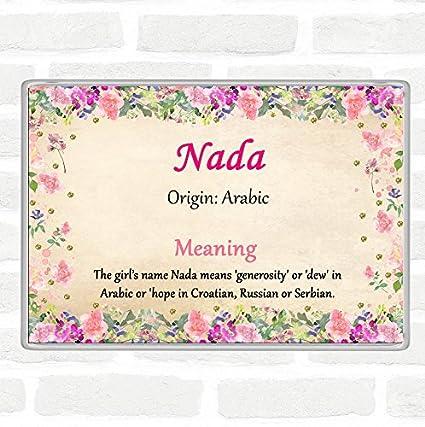 Imán para nevera, diseño floral con nombre de Nada: Amazon.es ...