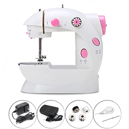 Amazon Portable Sewing Machine Kit Handheld Mini Electric Cool Sewing Machine Beginners Kit