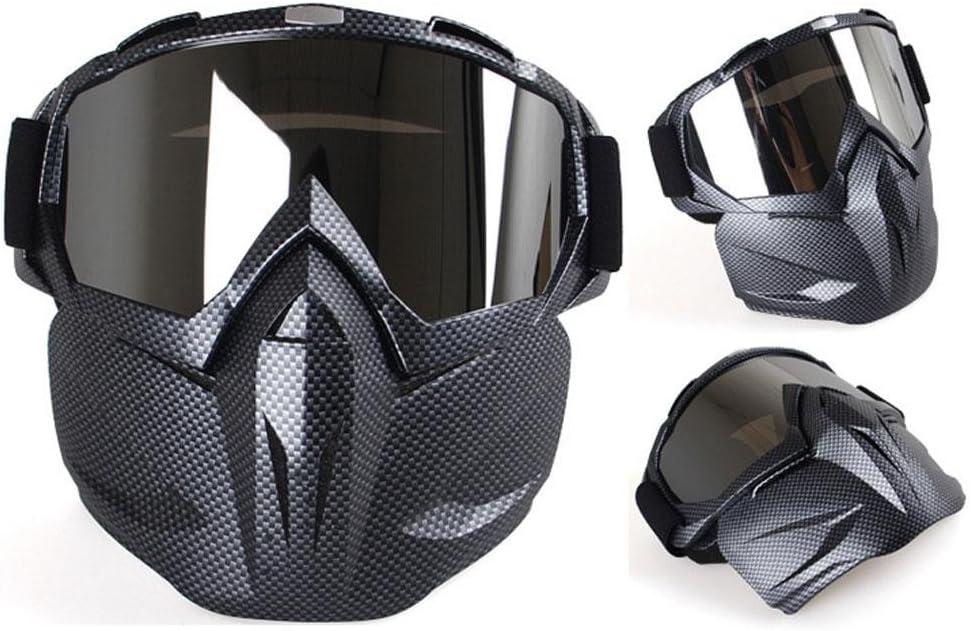 Coccodrillo Nero M Faccia Antivento e Sandproof Modulare Full Face Racing Casco Moto UV Occhiali da Sole Protettivi Ciclismo Maschera da Equitazione Casco da Moto con Occhiali