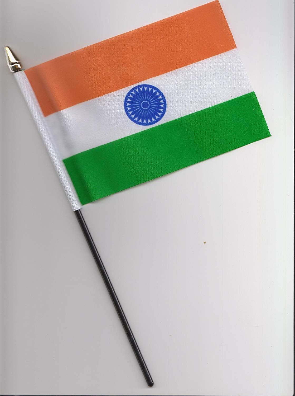 A mano de la bandera de India 25 cm: Amazon.es: Hogar