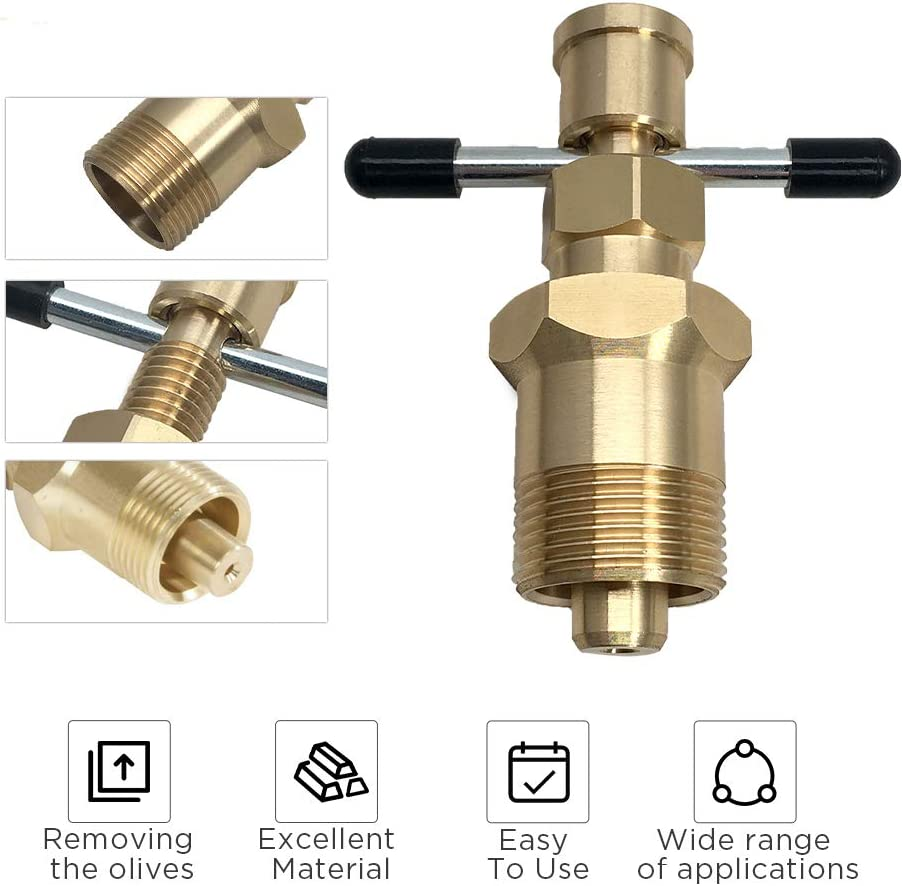 Details about  /15mm/&22mm Olive Remove Puller Solid Brass Copper Pipe Fitting V6V8
