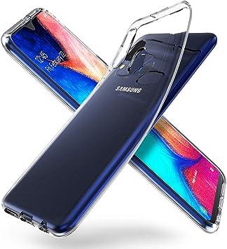 ORNARTO Funda para Samsung A20e, Transparente Delgada Silicona ...