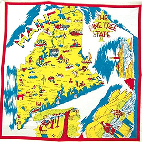 Amazoncom Maine State Souvenir Dish Towel Home Kitchen - Maine state map