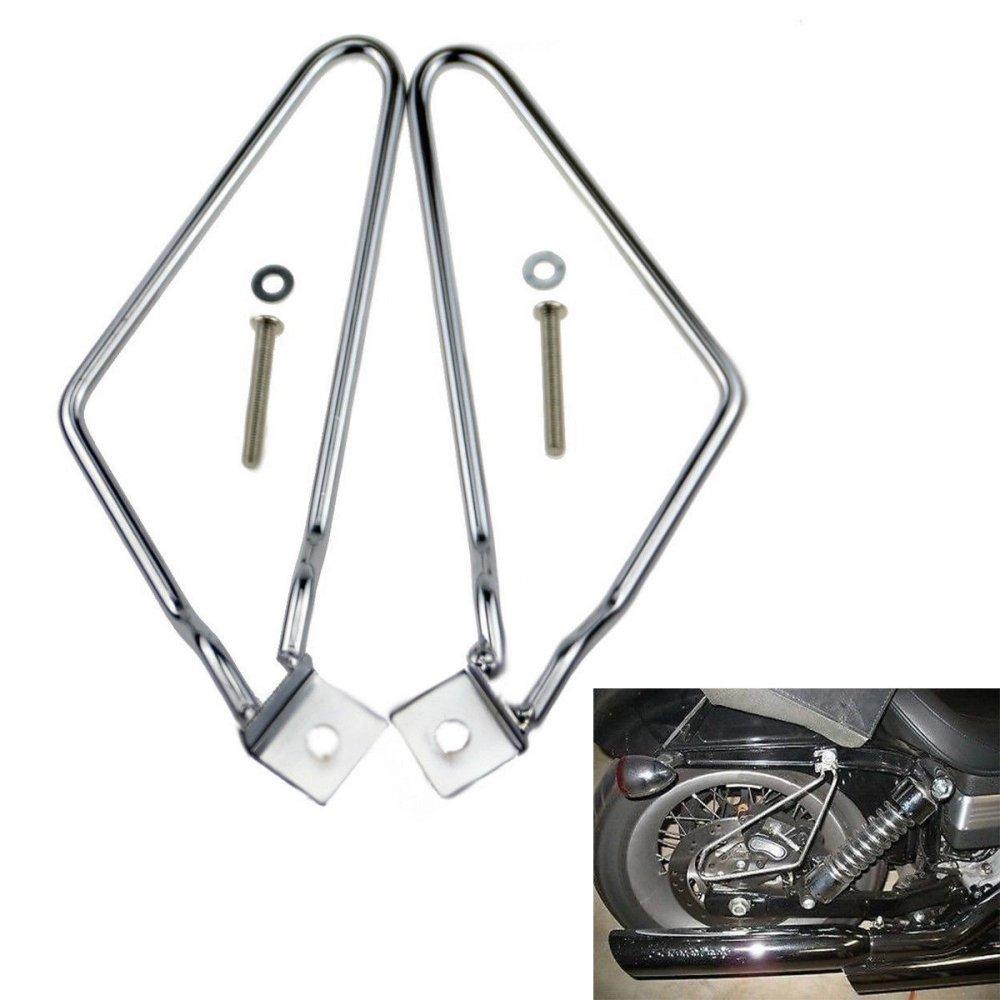 Fixation de sacoche de selle LEAGUE&CO - Noir - Acier inoxydable - Pour Harley Sportster 883, Iron xl883 N, Dyna Fat Bob FXDF Iron xl883N 1280