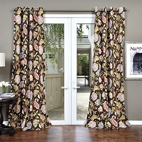 Lambrequin Boho Paisley Cotton Curtain Panel Brown (Window Panel Paisley)