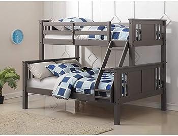 Donco Kids Twin/Full Princeton Bunk Bed (Slate Gray)