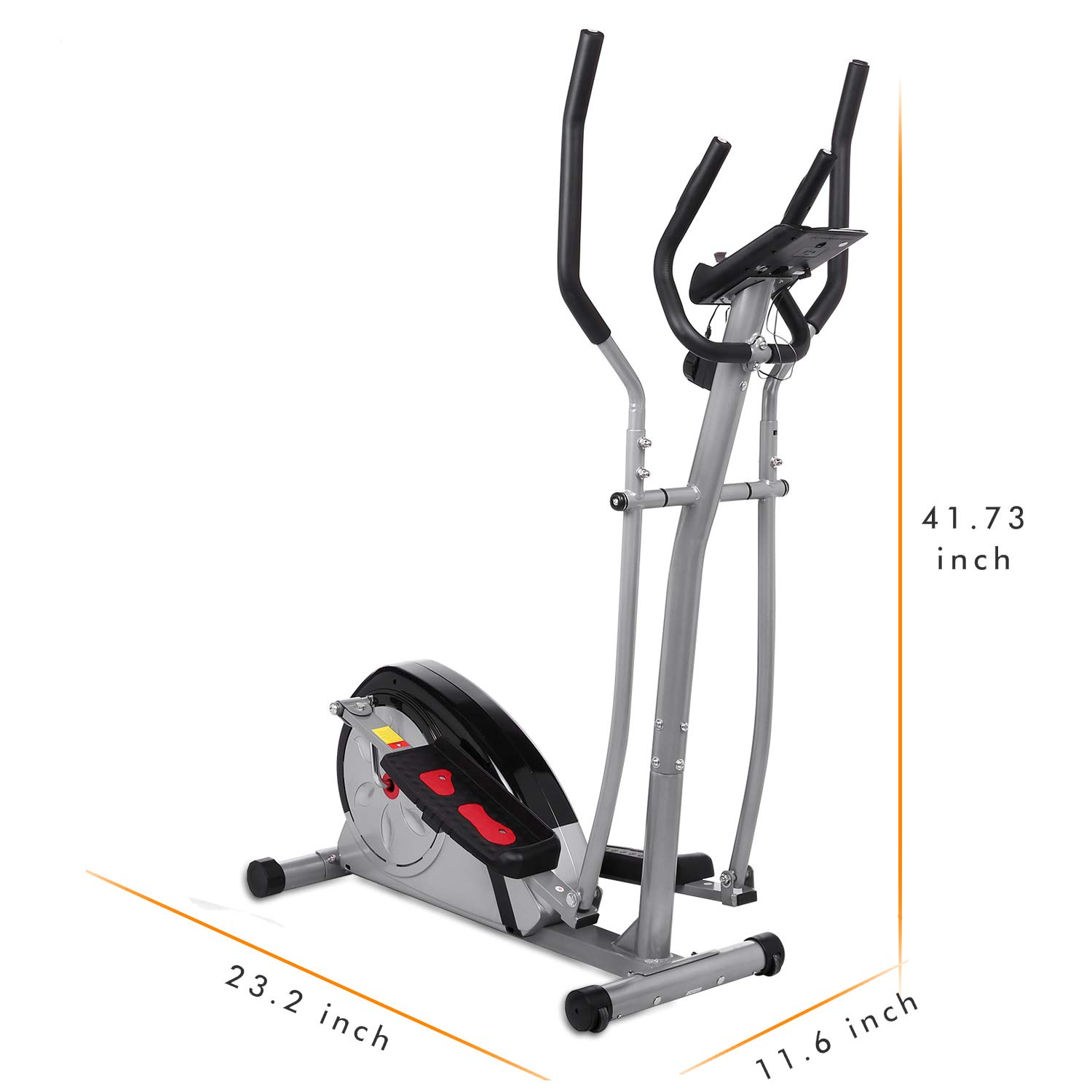 Aceshin Elliptical Machine Trainer Compact Life Fitness Exercise Equipment for Home Workout Offic Gym (Gray2) by Aceshin (Image #8)