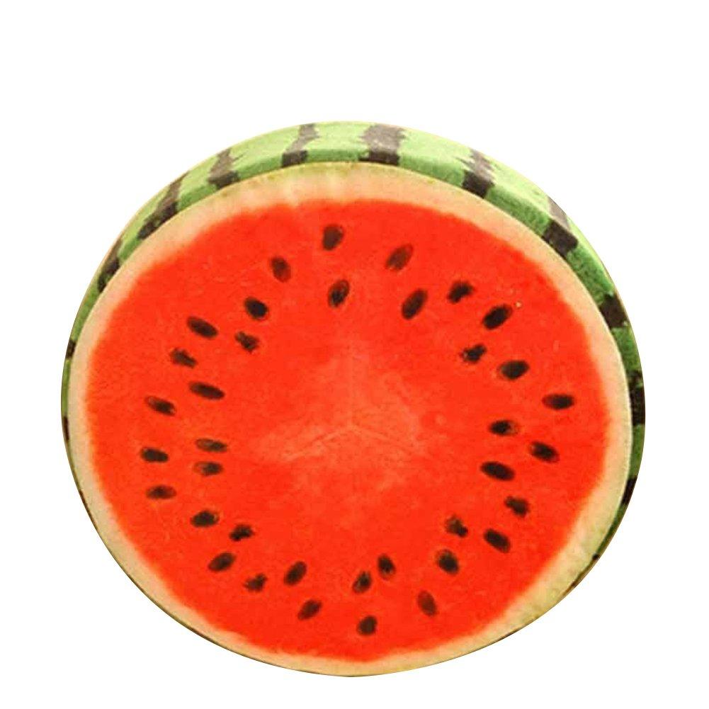 Sukisuki morbido cuscino rotondo frutta modello giocattoli di peluche cuscino cuscino creativo Home Decor, Watermelon, taglia unica