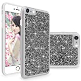 iPhone 6 / 6S Case, Cellularvilla [Slim Fit] Luxury Bling Jewel Rock Crystal Rhinestone Diamond Case [Shockproof] Dual Layer Protective Cover for Apple iPhone 6 / iphone 6S 4.7 inch (Grey Silver)
