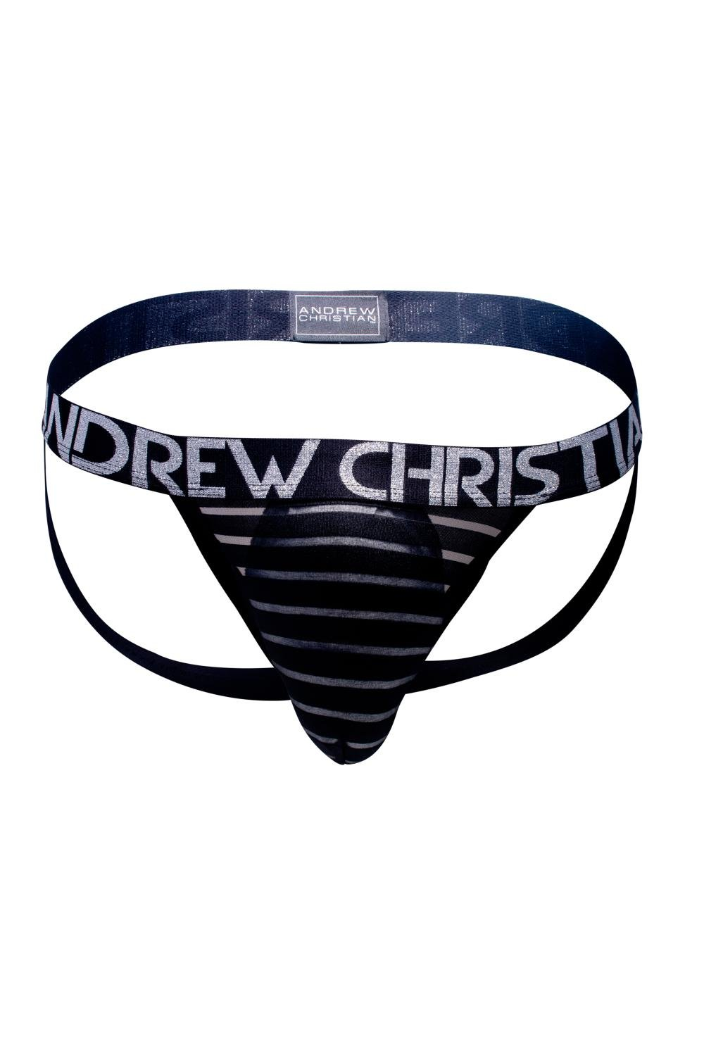 Andrew Christian Sheer Stripe Jock 90634