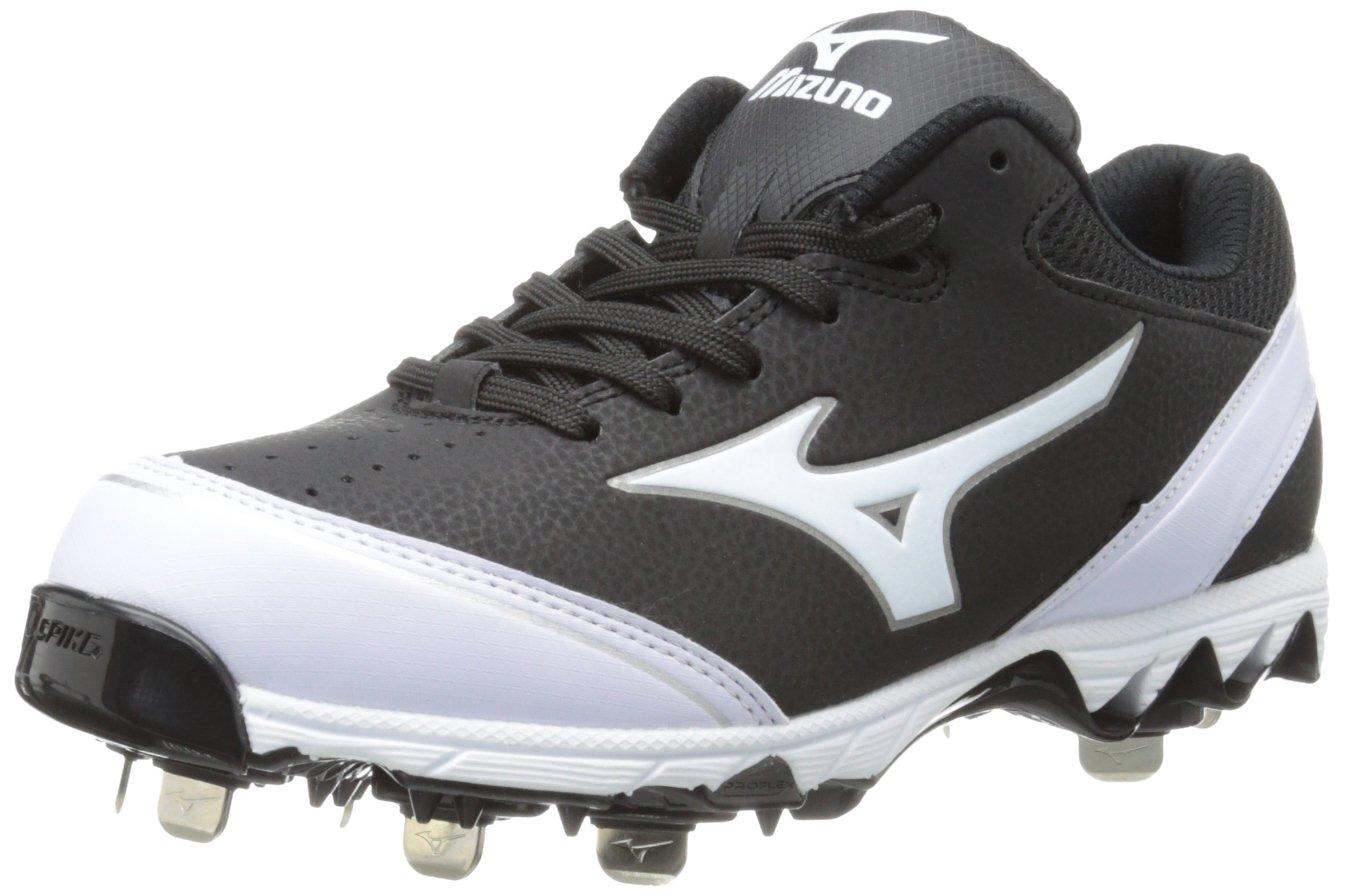 Mizuno Women's 9-Spike Select Softball Cleat,Black/White,5 M US