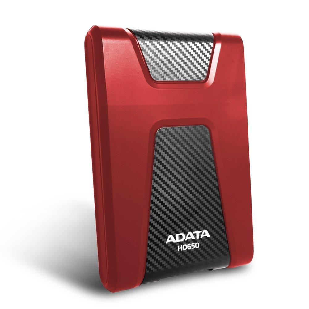 ADATA HD650 1TB Anti-Shock External Hard Drive, Red (AHD650-1TU3-CRD) by ADATA (Image #2)