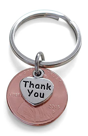 Amazon Thank You Charm Layered Over 2018 Us One Cent Penny