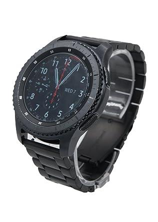 22mm Acier Inoxydable bande de montre métal Bracelet de remplacement + outil Épingles Pour Samsung Gear