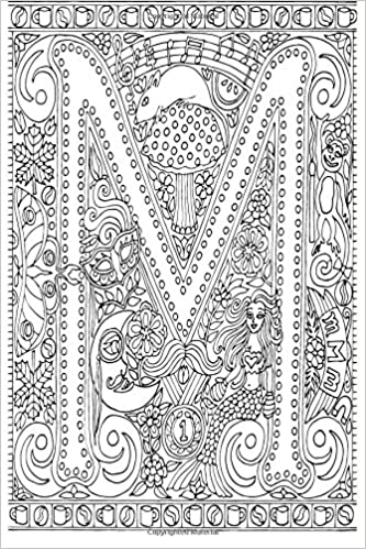 Amazon.com: Color My Cover Journal - Creative Alphabet - M: 100 page ...