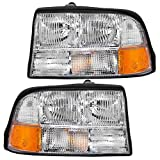 Driver and Passenger Headlights Headlamps Replacement for GMC Oldsmobile Pickup Truck SUV 16526227 16526228