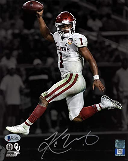 Autographed//Signed Kyler Murray Oklahoma Sooners 8x10 College Football Photo Beckett BAS COA Auto