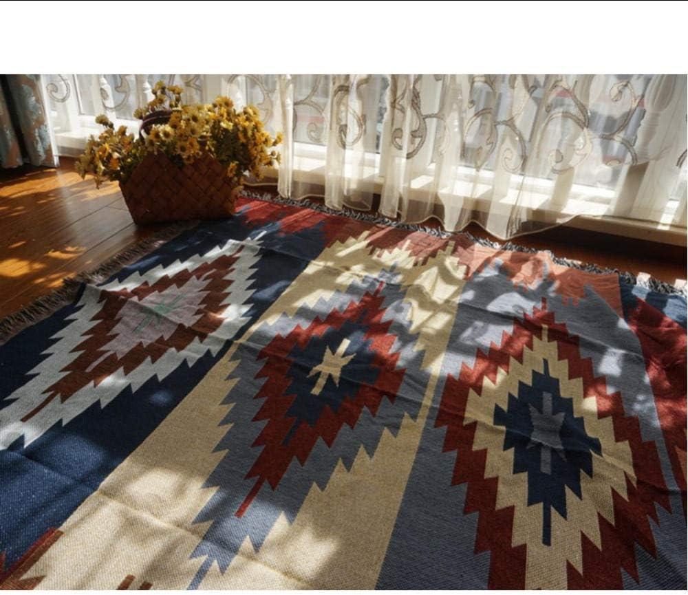 XOOYYY Nostalgia Moquette Coperta Sottile Tibet Ethnic Art Coperta Coperta Copriletto Soggiorno Camera da Letto Tovaglia Feltri Arazzi-150X130CM