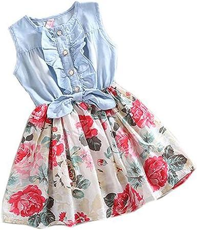 DAY8 Robe Fille Cérémonie Princesse Fleur