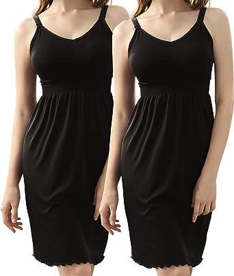 Nursing Breastfeeding Dress Maternity Modal Removable Molded Cup Comfy M//L//XL