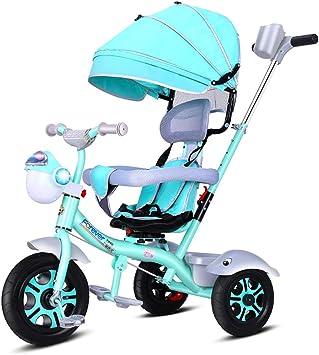 Aocean Niños Triciclo De Rueda Bicicleta Triciclo Capota extraíble y Plegable Incluye Barra telescópica para los Padres Certificado Capacidad de Carga 30KG, Green: Amazon.es: Deportes y aire libre