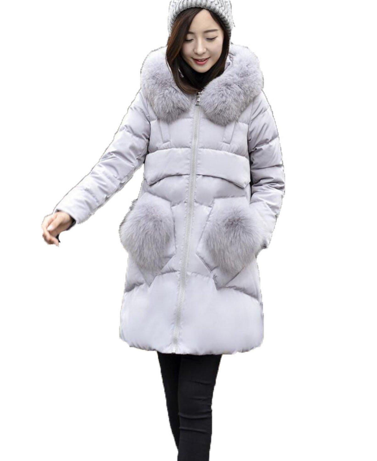 LQABW New Down Jacket Mujeres Puffa Quilted Coat Ocio Moda Mediados De Longitud