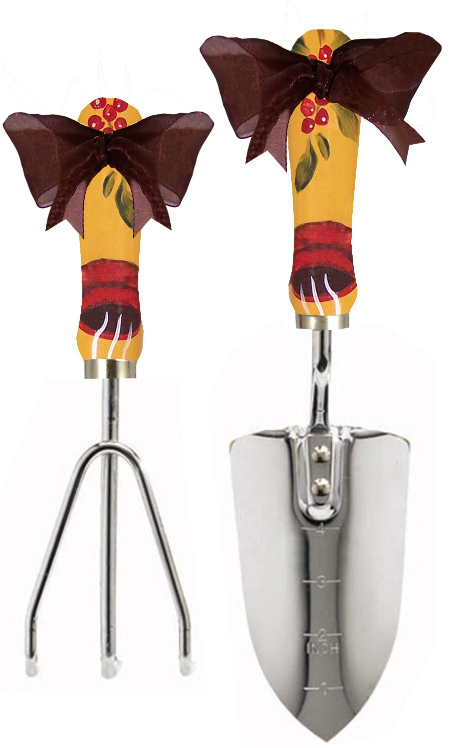 Cute Tools Stainless Steel Garden Shovel and Three Prong Rake - Landscaping Instrument, Hand Painted Wooden Handle In The USA, Durable Yard and Gardening Equipment From CuteTools! - Art For A Cause, Honduran Coffee Cup