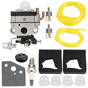 Mannial WYL-115 Carburetor Carb with Air Filter fit Honda GX22 GX31 Harmony FG100 4 Stroke Mantis Tiller HHE31C Edger HHT31S UMK431 UMK431K1 Trimmer Brush Cutter Replace # 16100-ZM5-803 16100-ZM3-848