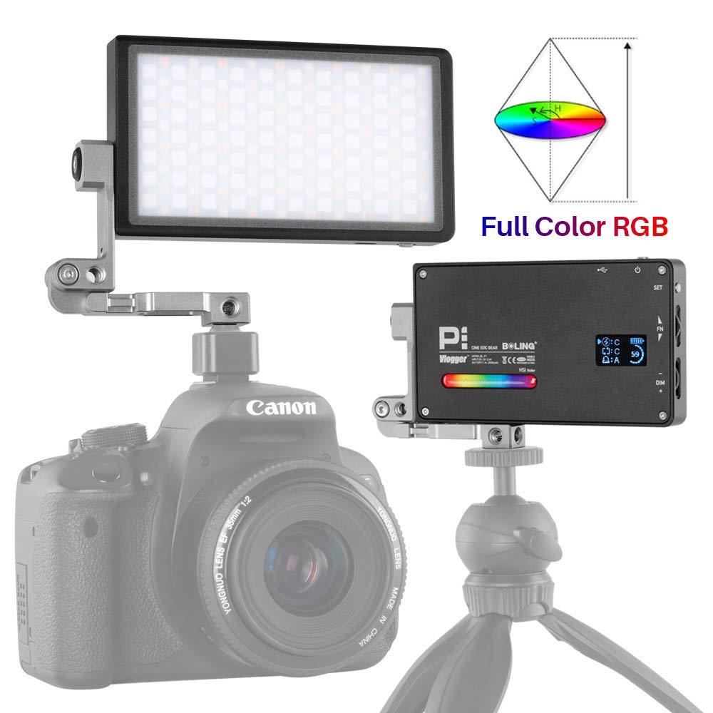 BOLING BL-P1 Luz de Video de Bolsillo RGB 2500-8500K para cámaras ...