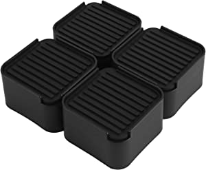 Yizel Bed Risers 2 Inch Heavy Duty Furniture Risers for Bed Frame, Sofa, Table, Chair and Dorm Bed, Couch risers Set of 4pcs, Black