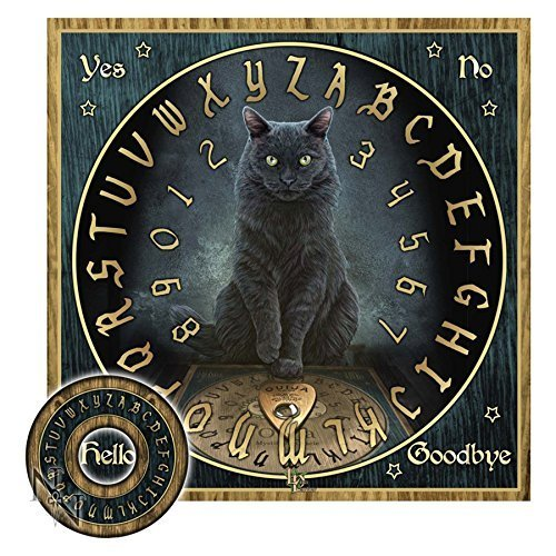 Lisa Parker His Masters Voice Black Cat Mystical Talking Spirit Board w/ Planchette]()