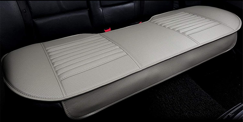 EXQUILEG Allgemeiner Zweck bequem Atmungsaktiv Sitzauflage Auto Autositzkissen-PU-Leder-Bambusholzkohle Dunkelbraun, 51x54cm