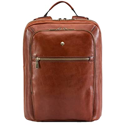 Jekyll and Hide Tan Madrid 15inch Leather Backpack new