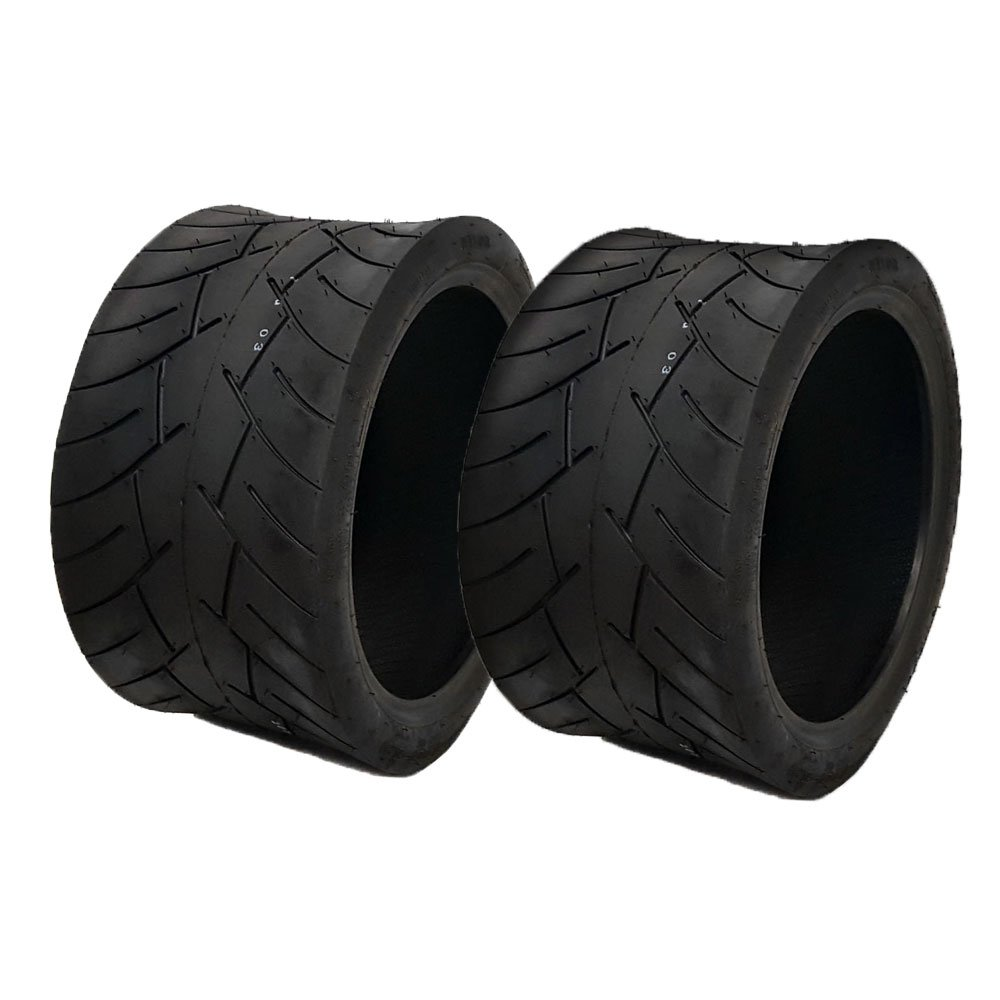 SET OF TWO: Tubeless Type Street Tire Size 205/30-12 (Front or Rear) for Golf Cart, Honda Ruckus, Maddog Ruckus Clone and ATV/UTV Vehicles