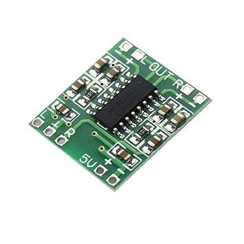 10 * Tablero del Amplificador de Potencia del Tablero Verde PAM8403 Clase D 2x3w Amplificador de
