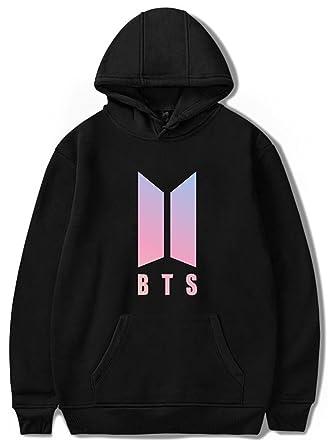 EmilyLe Womens Kpop BTS Logo Jacket Pullover Bangtan Boys Unisex Sweatshirt JIN SUGA Jimin V JUNG